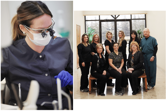 Images of a team in a dental office in Troy